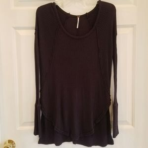 Free People/navy blue thermal tunic